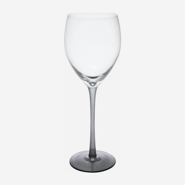 White wine glass made of smoked glass