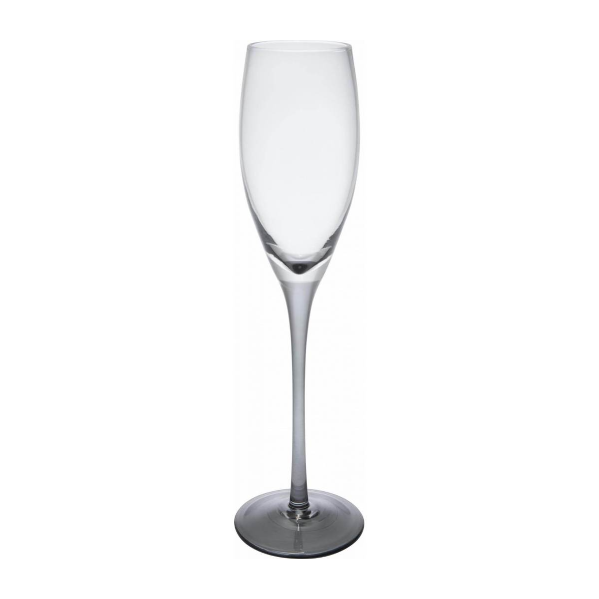 Champagne glass made of smoked glass n°1