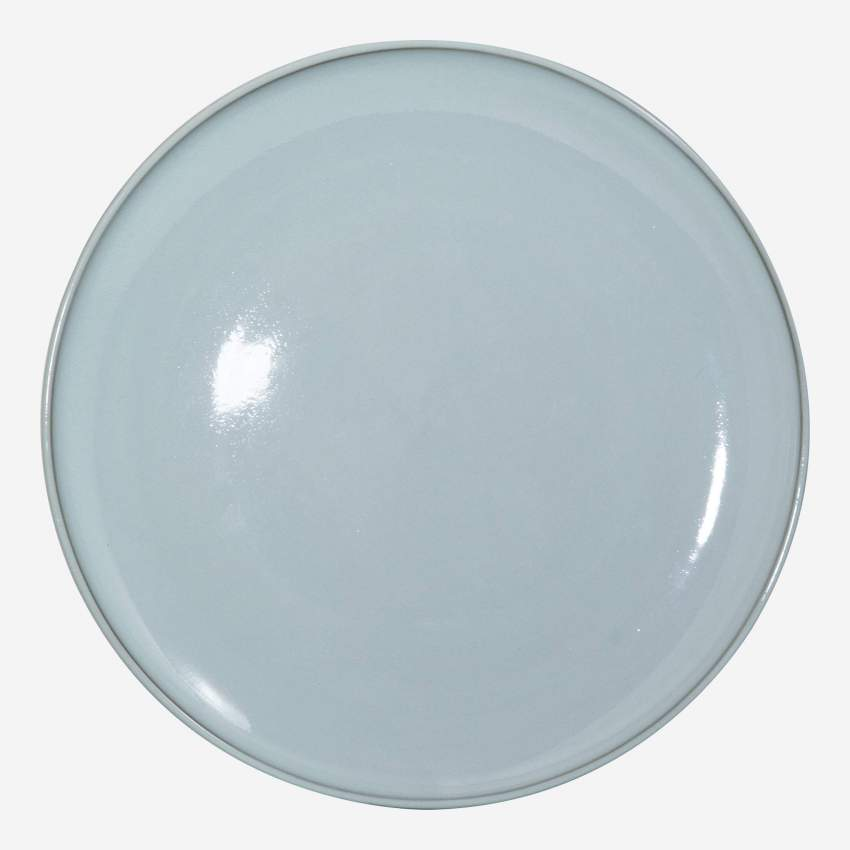 Plat porcelain plate 27cm, brown and green - Design by Perla Valtierra