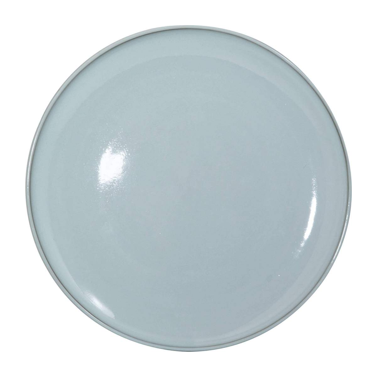 Service porcelain plate 33cm, brown and green - Design by Perla Valtierra n°1