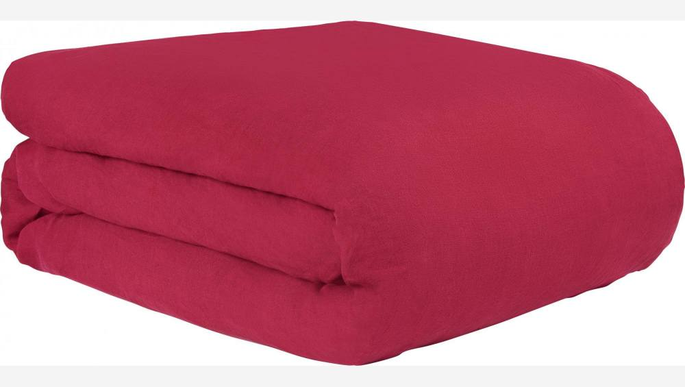 Duvet cover made of flax 200x200cm, red