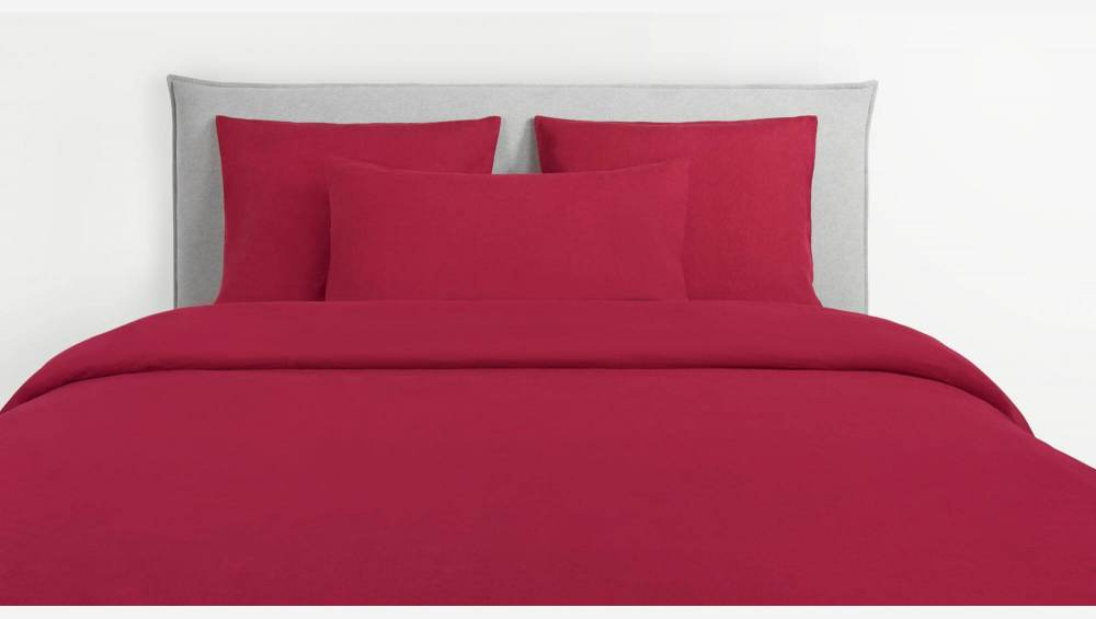 Duvet cover made of flax 260x240cm, red
