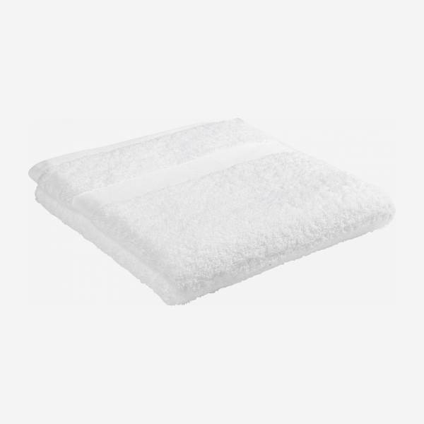White coton bath towel