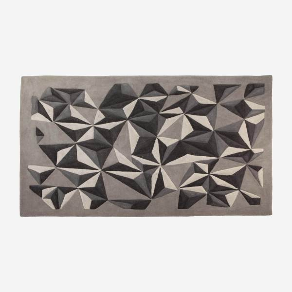Hand-tufted wool rug 170x240 cm