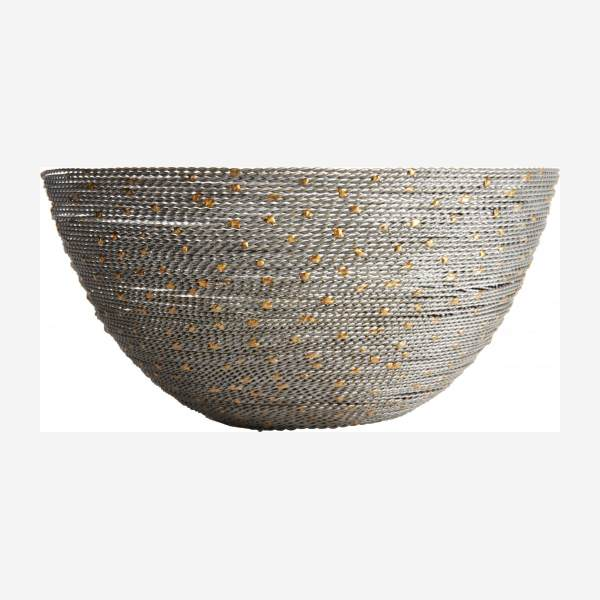 Small gold and grey twisted wire bowl