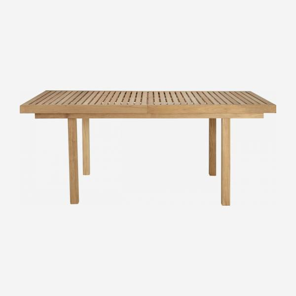 Teak extendible garden table