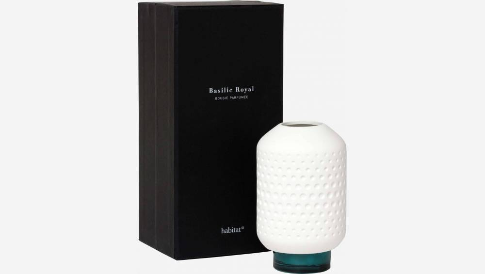 Basil scented candle gift set