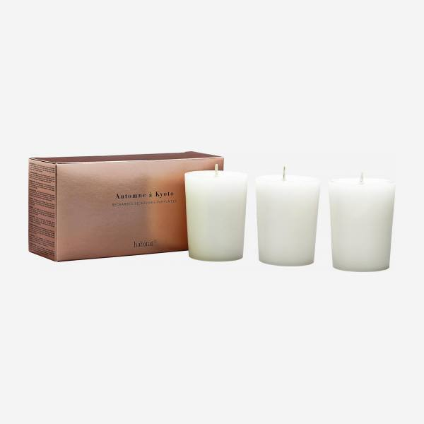 Refill for 3 Kyoto scented candles, 3 x 150 g