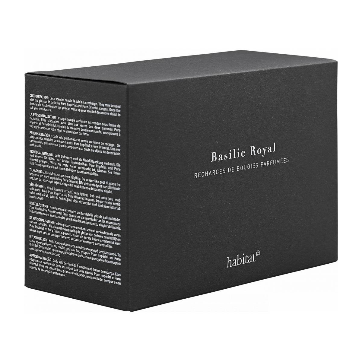Refill for 2 medium Basil scented candles, 2 x 300 g n°1