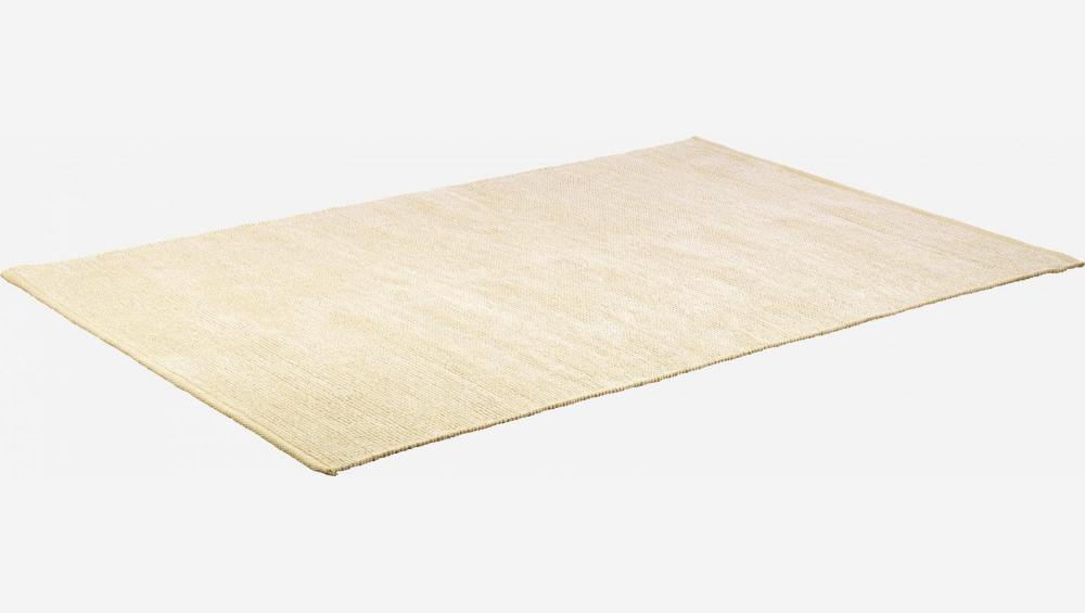 Large textured cotton rug
