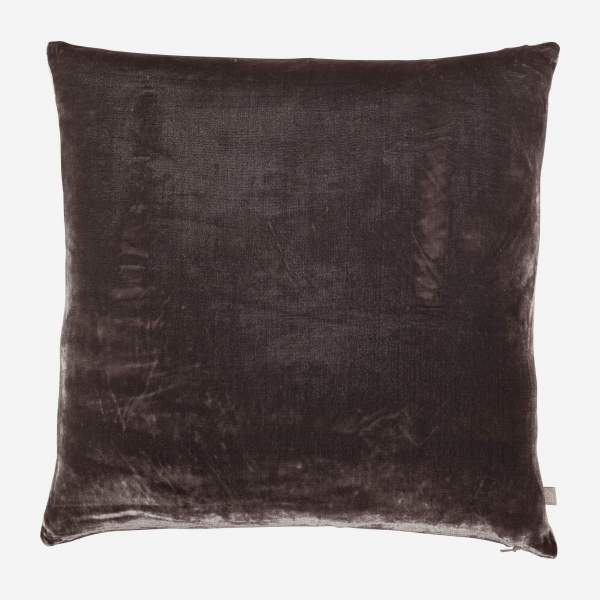 Silk and linen pillow
