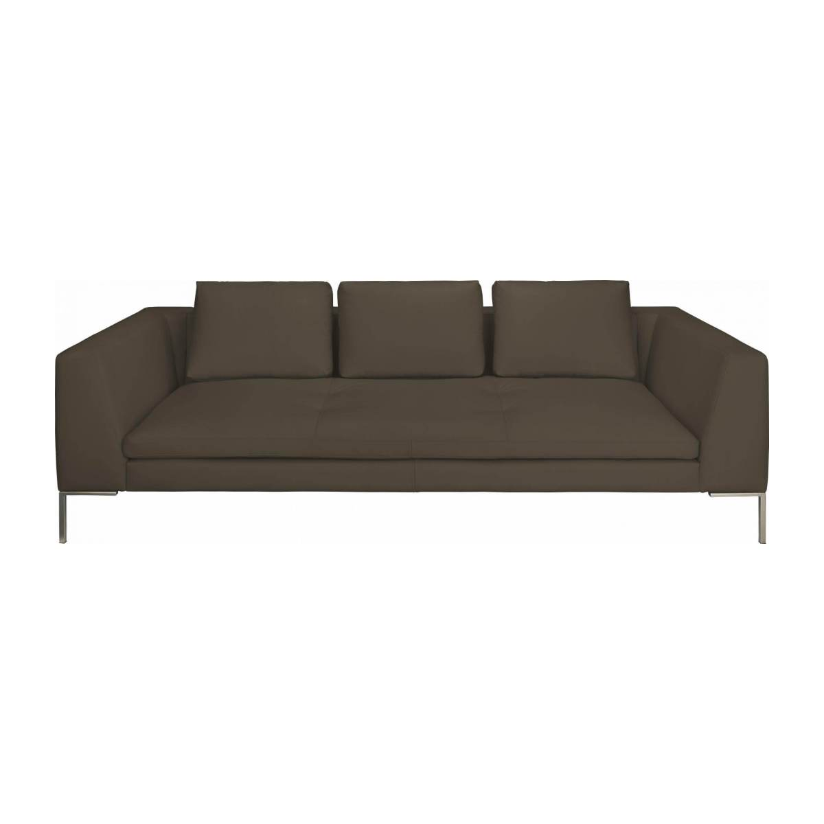 3 seater sofa in Eton veined leather, stone n°2