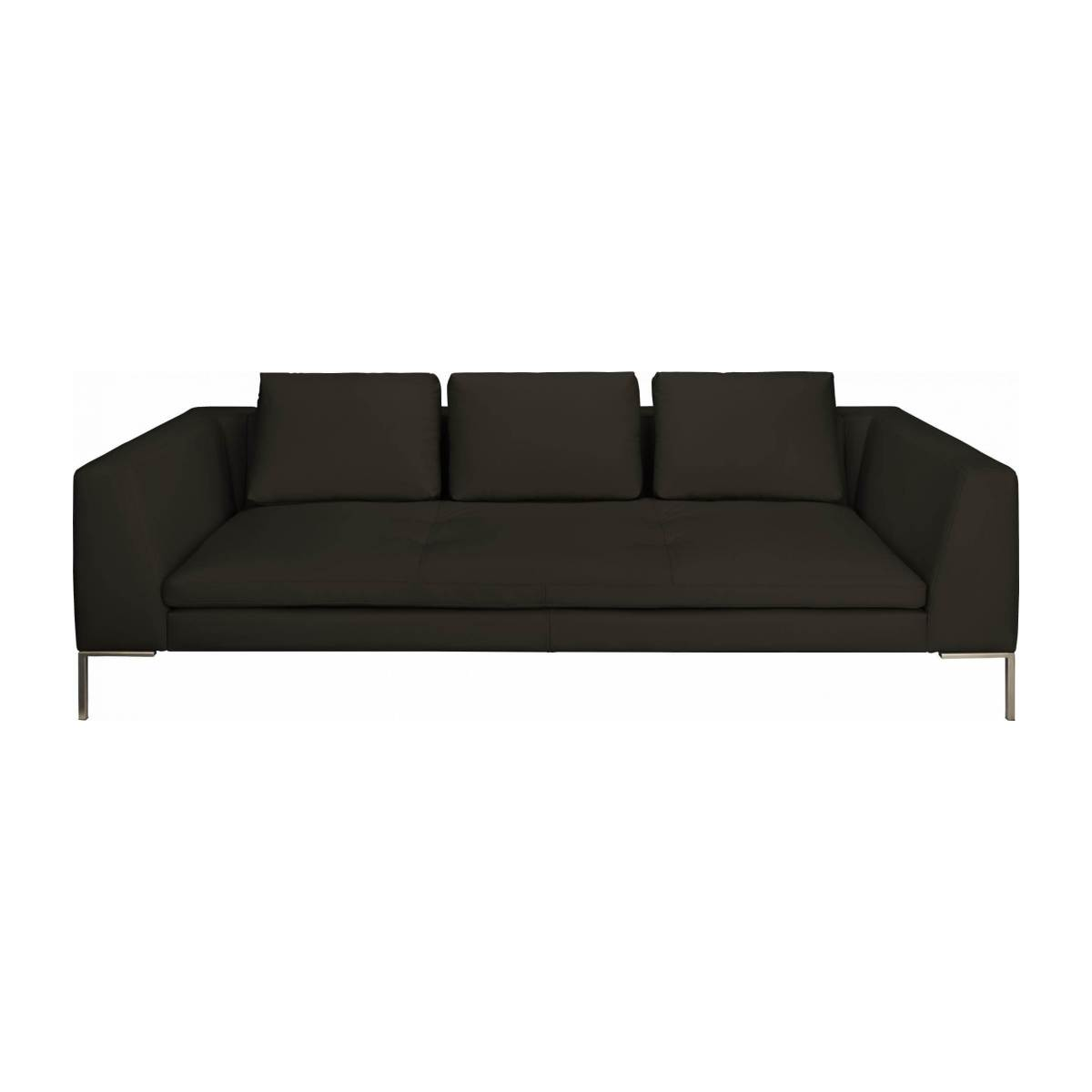 3 seater sofa in Eton veined leather, brown n°2