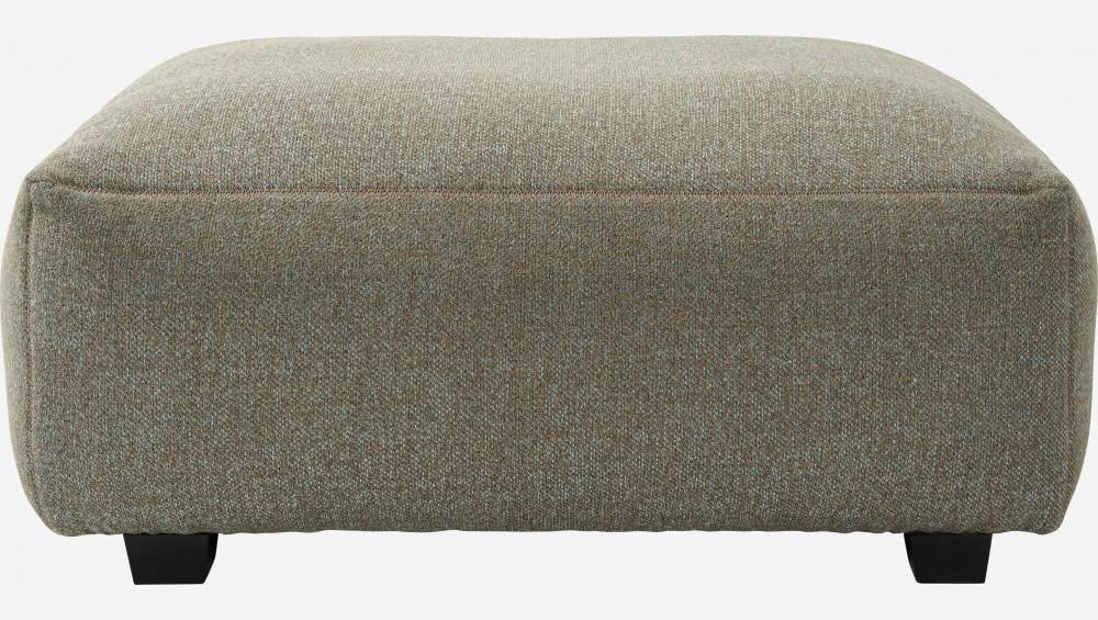 Footstool in Lecce fabric, slade grey