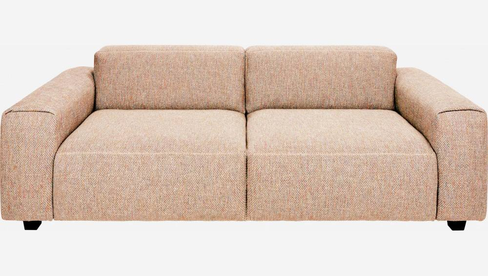 3-Sitzer Sofa aus Bellagio-Stoff - Orange