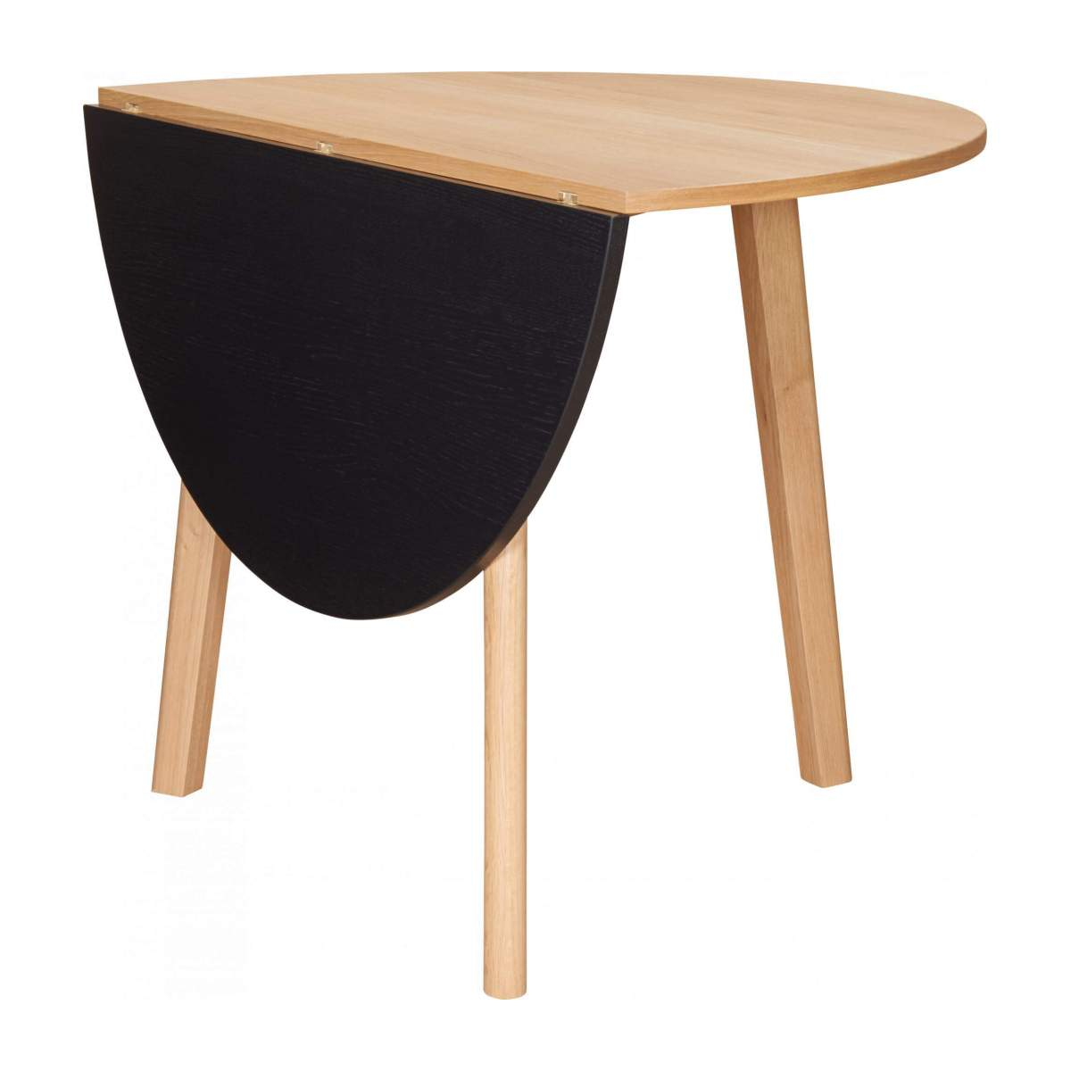 Black oak wood extending table - Design by Goncalo Campos n°2