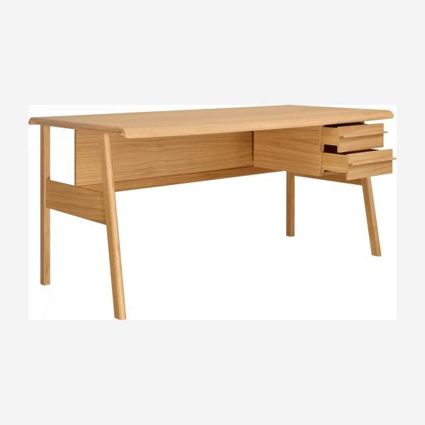 Big oak desk - Design by Joachim Jirou Najou