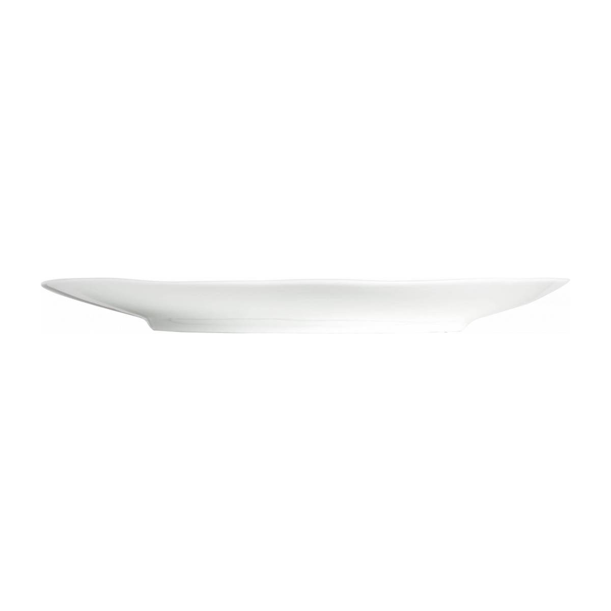 Flat plate made of porcelain, white and blue n°4