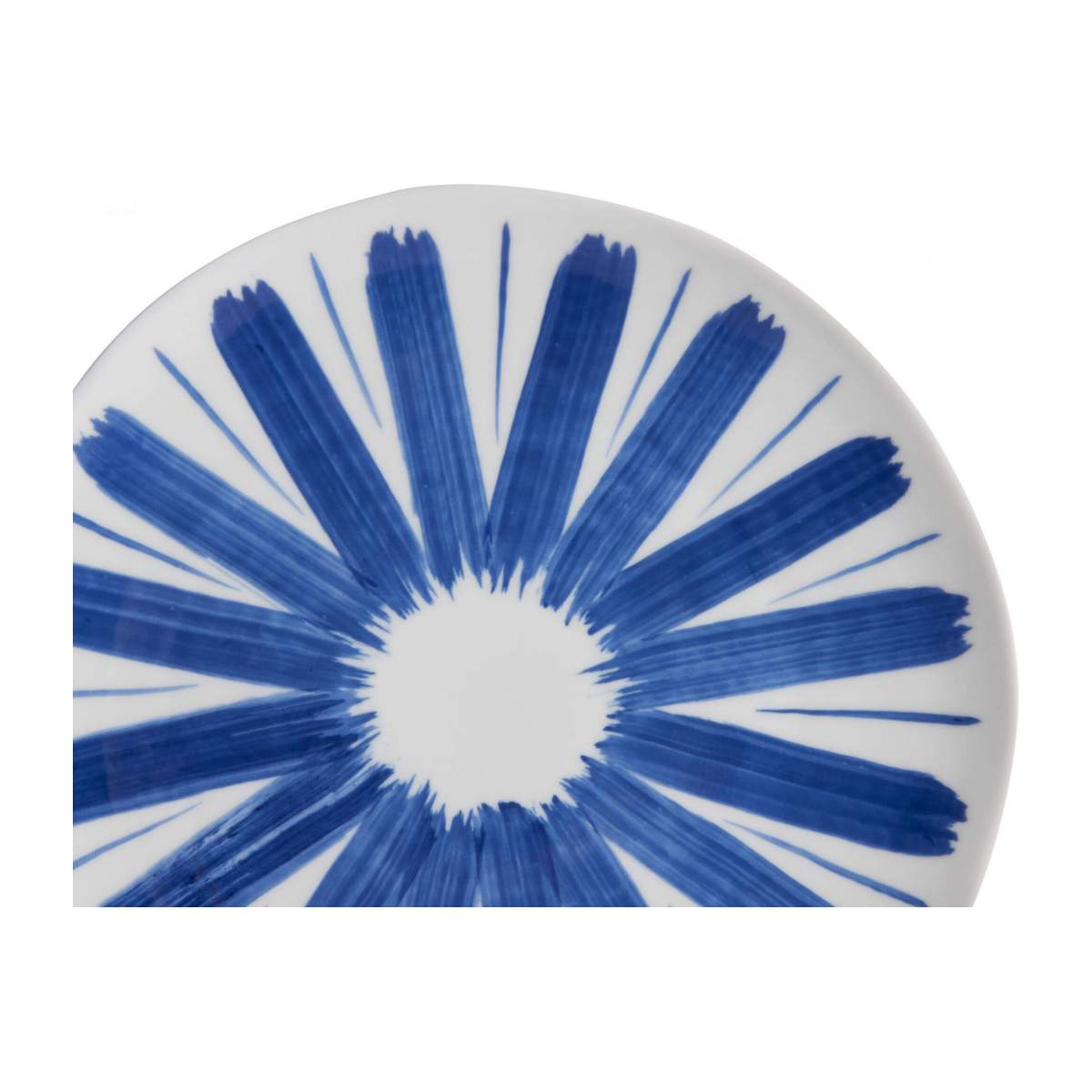 Dessert plate made of porcelain, white and blue n°5