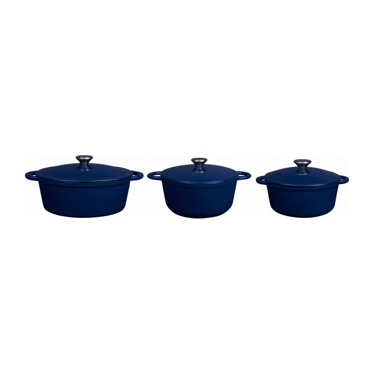 Cast iron cooker 23 cm, blue n°6