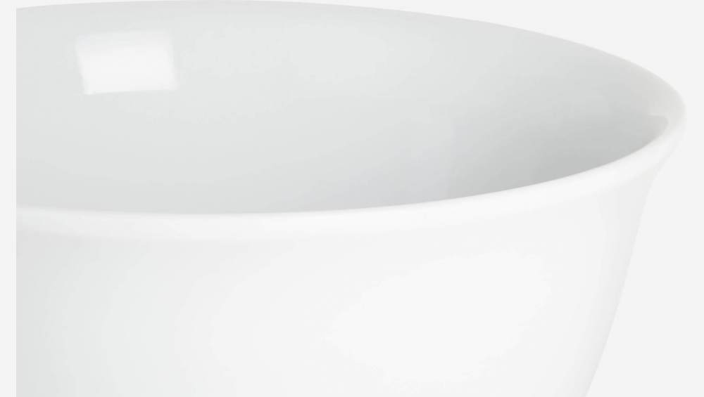 Mixing bowl in porcelain, white 28cm