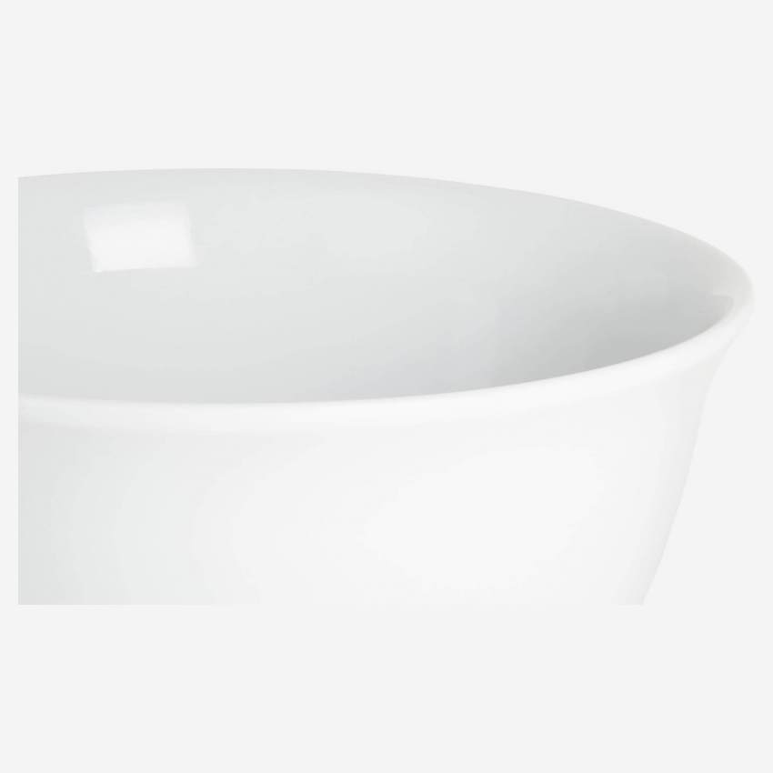 Mixing bowl in porcelain, white 18cm