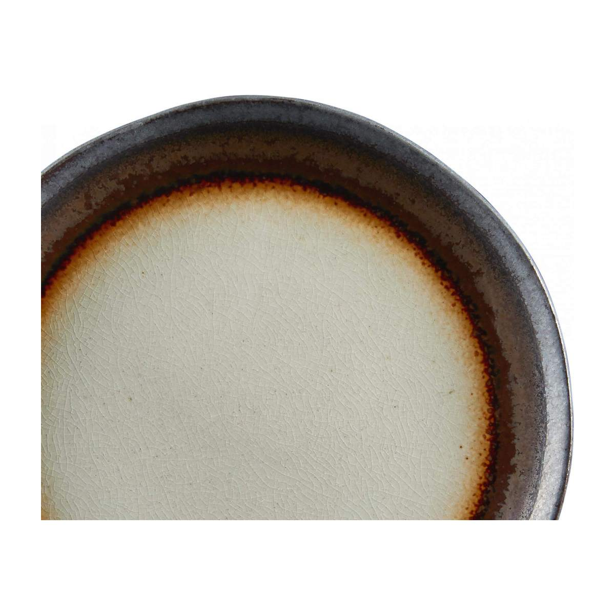 Dessert plate made of sandstone 22cm, grey and brown n°3