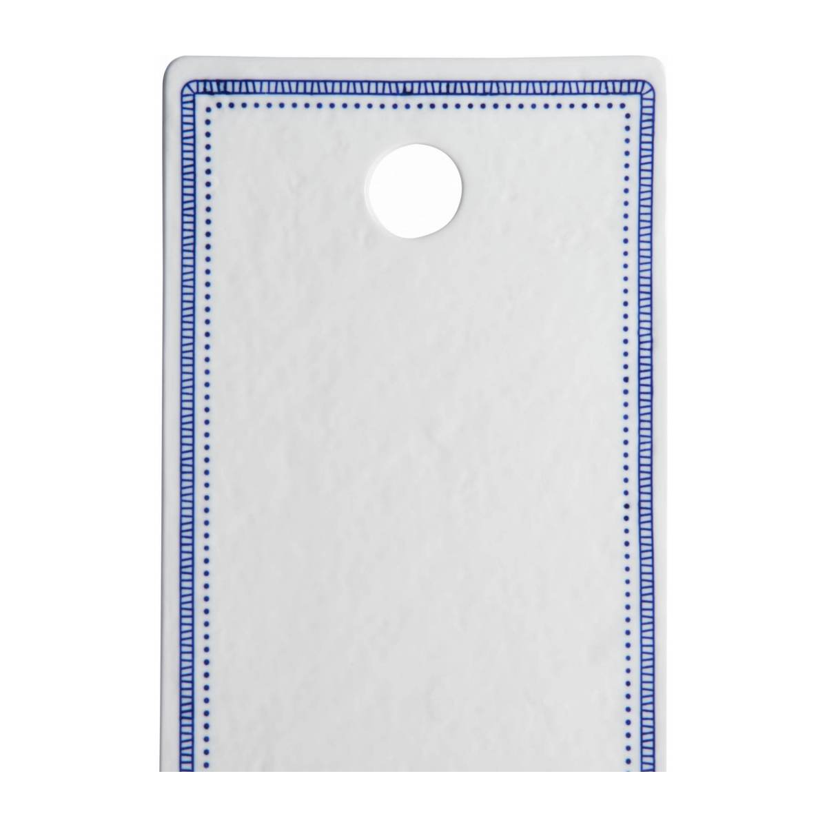 Chopping board made of porcelain 17x29cm, white and blue n°4