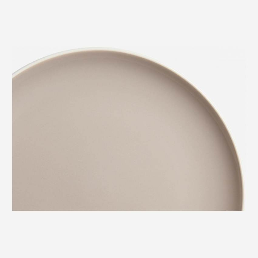 Flat plate made of sandstone, grey