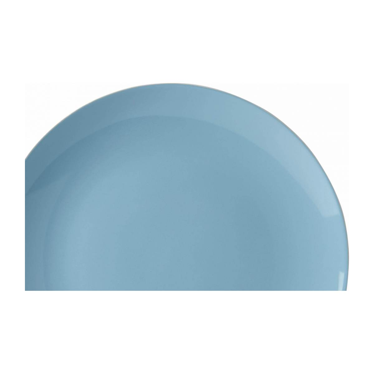 Serving dish made of sandstone, white and blue n°3