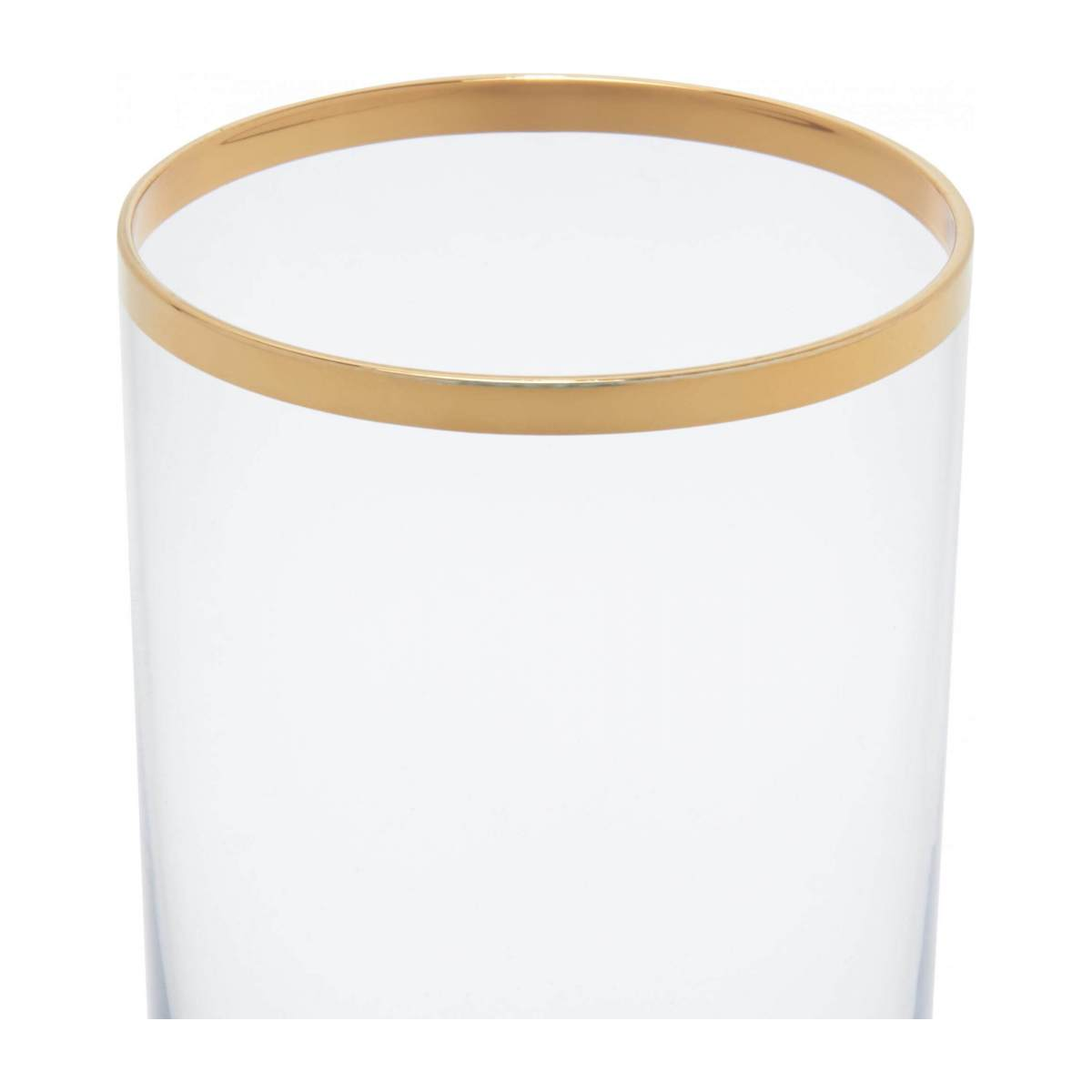 Tumbler made of glass haut, with gold edge n°2