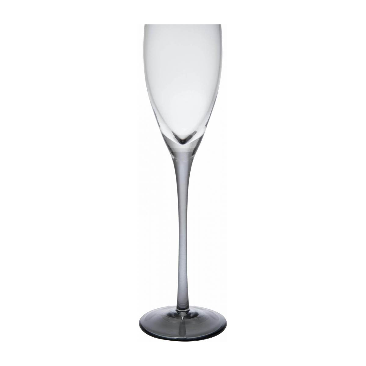 Champagne glass made of smoked glass n°2