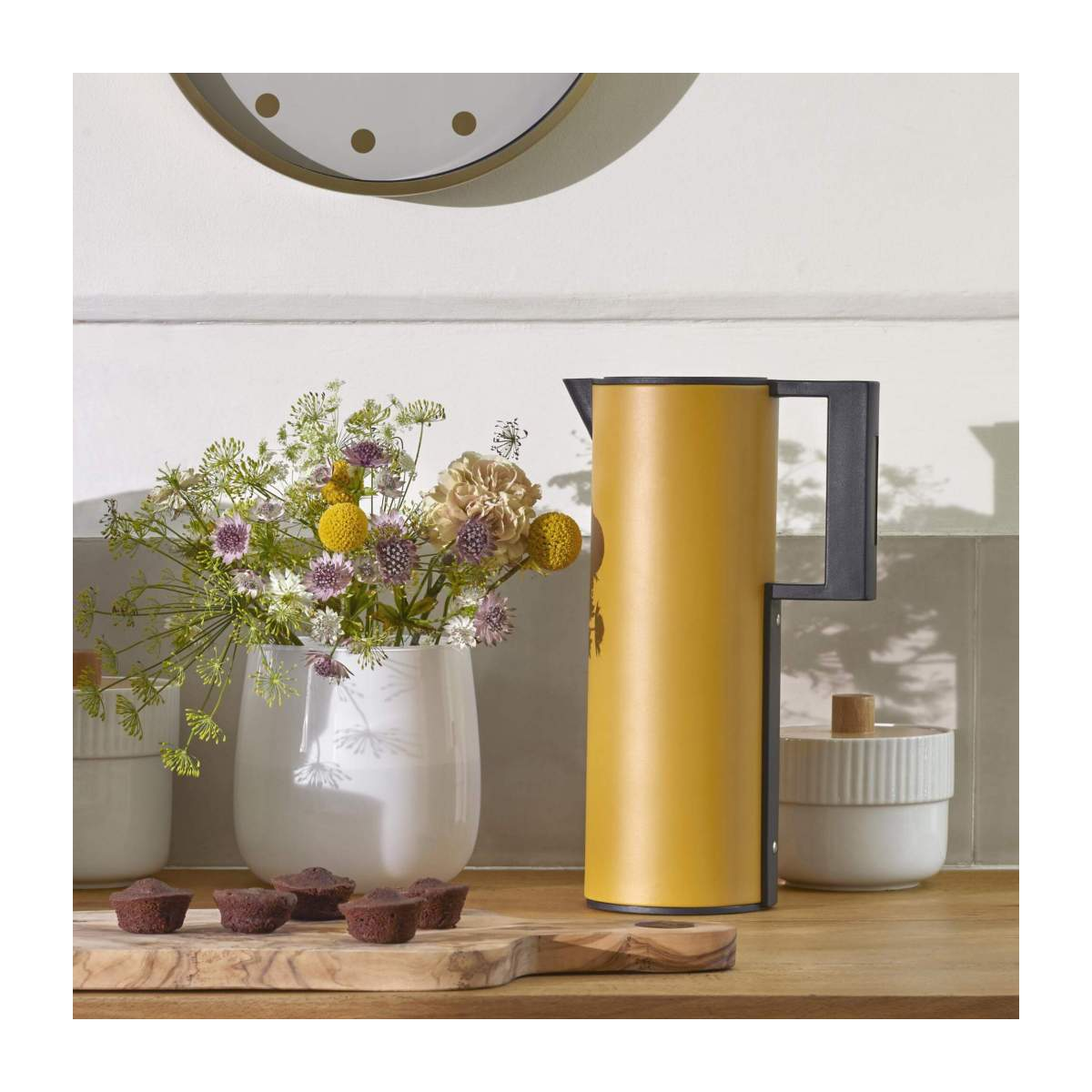 Thermos 1l in plastique, yellow n°6