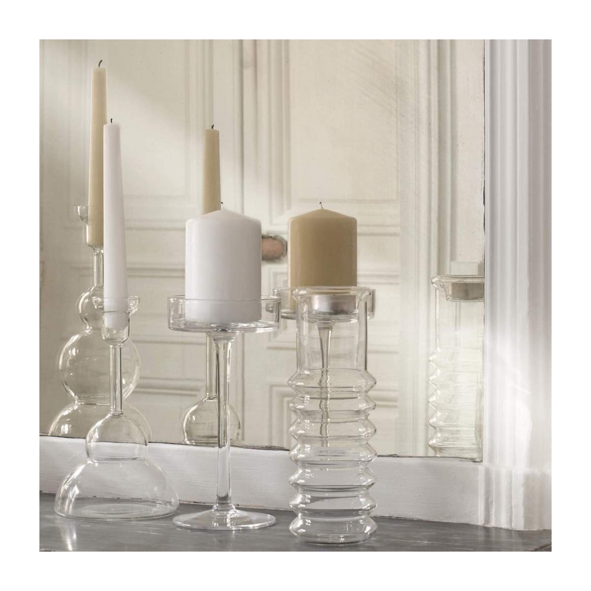 Large glass candlestick n°4