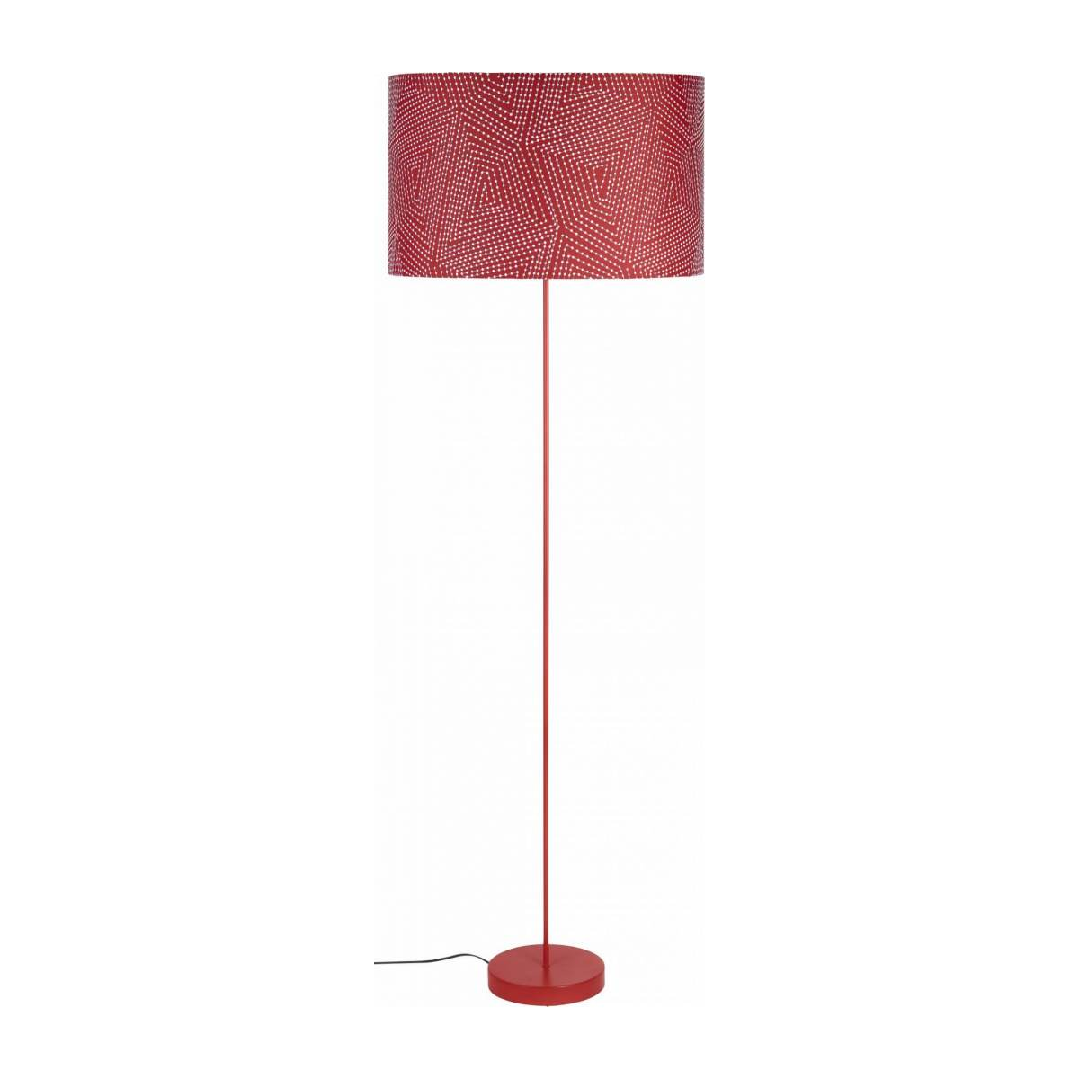 Lampshade 53cm, red with white patterns n°3