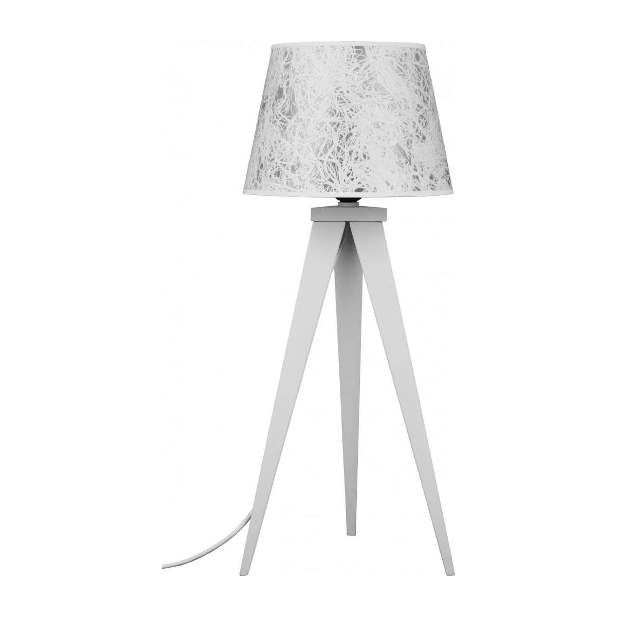 Lampshade in paper and PVC, white n°3
