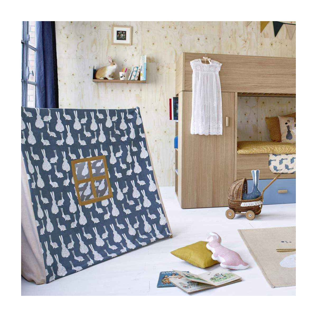 Tent made of cotton, bunny pattern n°8