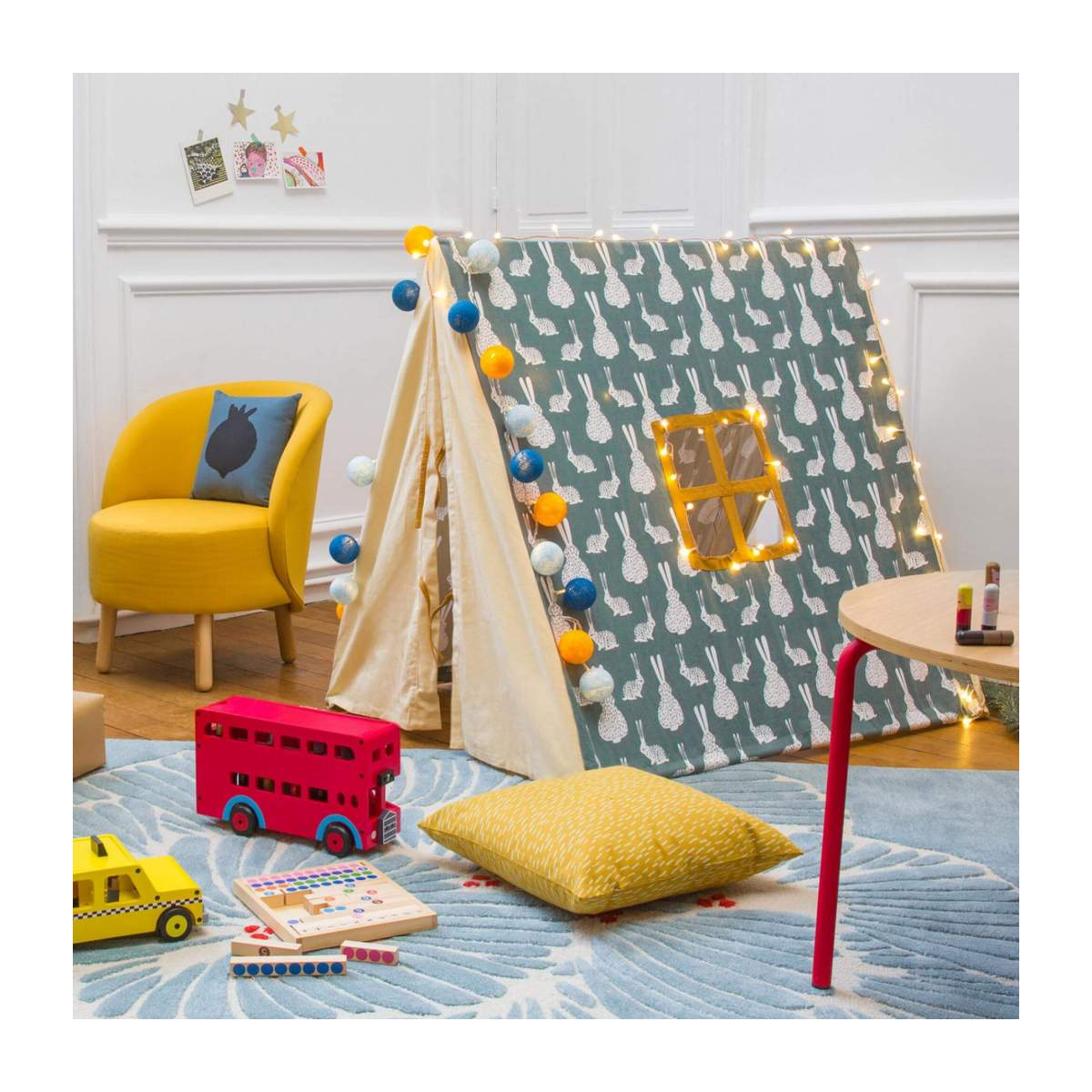 Tent made of cotton, bunny pattern n°9