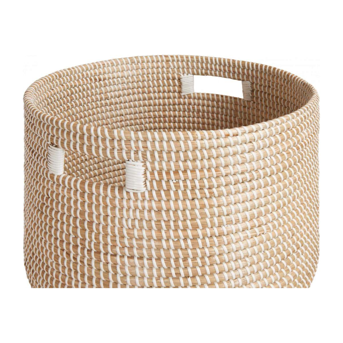 Basket 30cm with storage spaces made of seagrass n°3