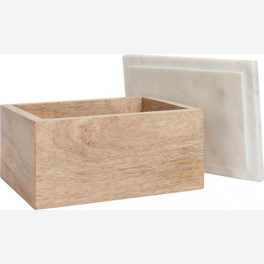 Box made of wood and marble