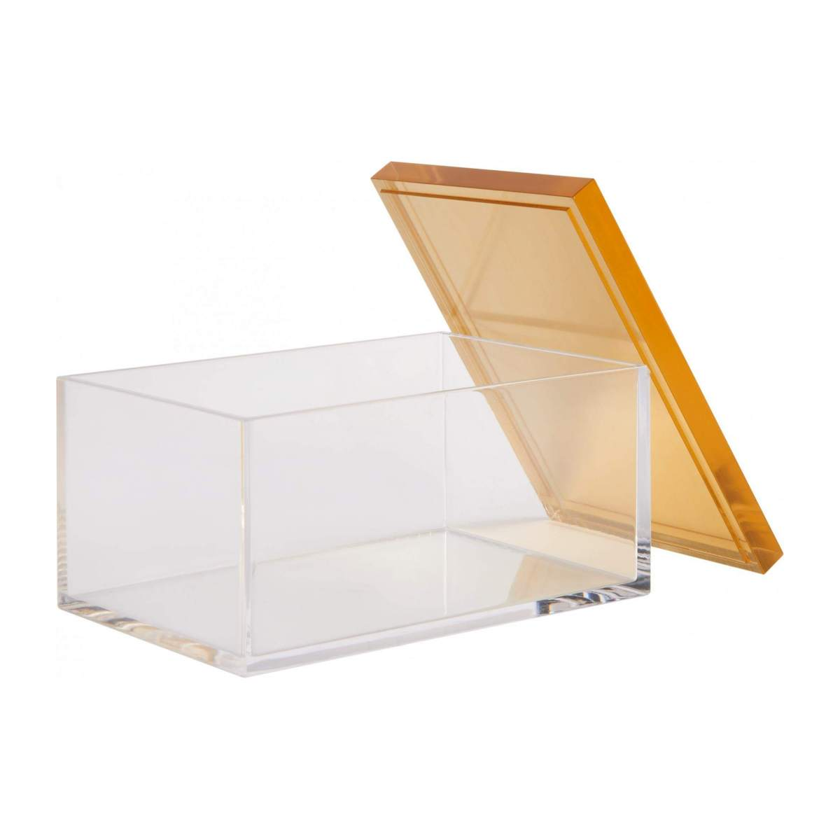 Box made of acrylic 12cm, transparent and gold n°3