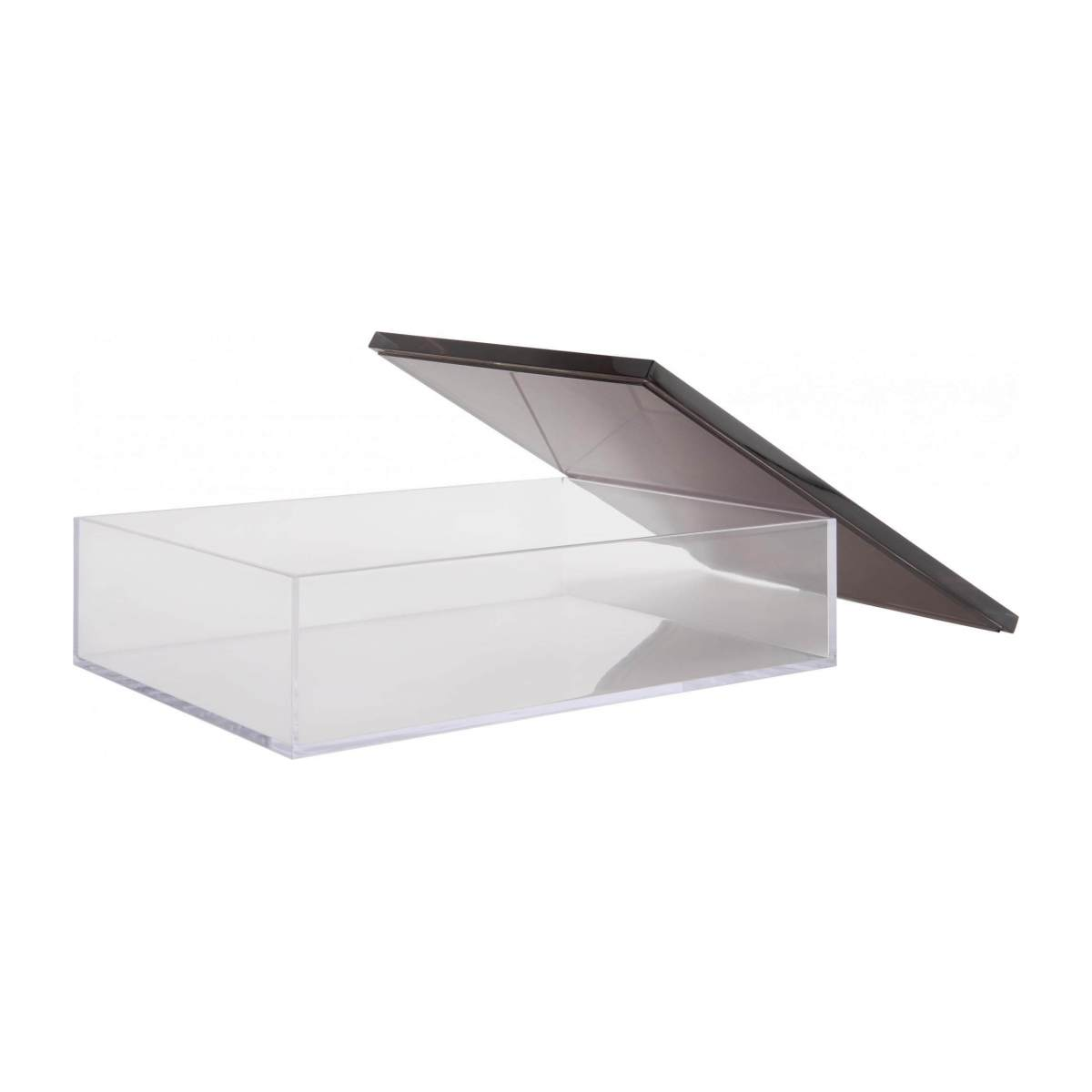 Box made of acrylic, transparent and silver n°3