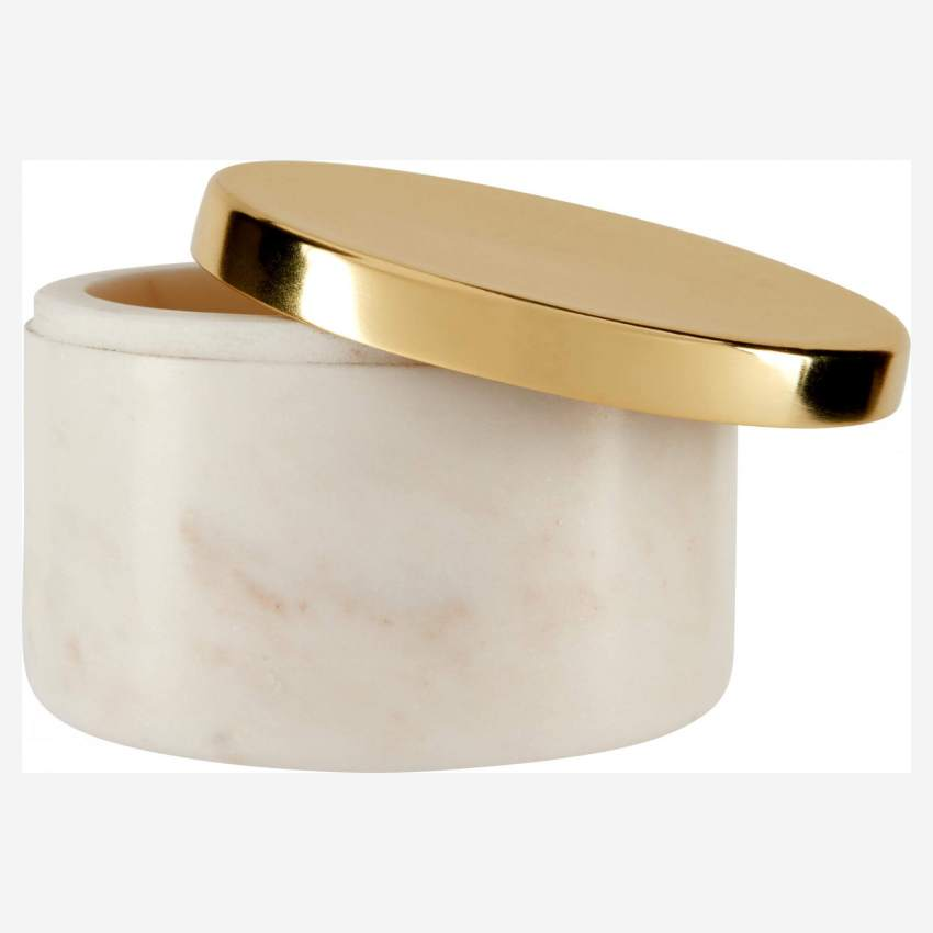 Box made of marble, golden