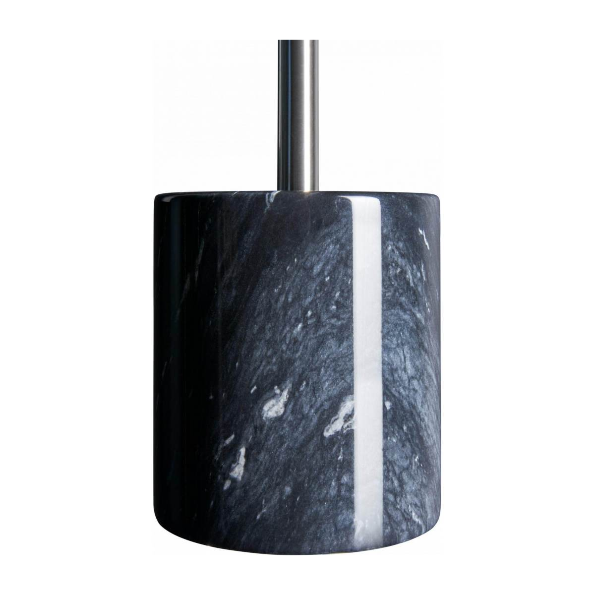 Toilet brush made of marble, black n°2