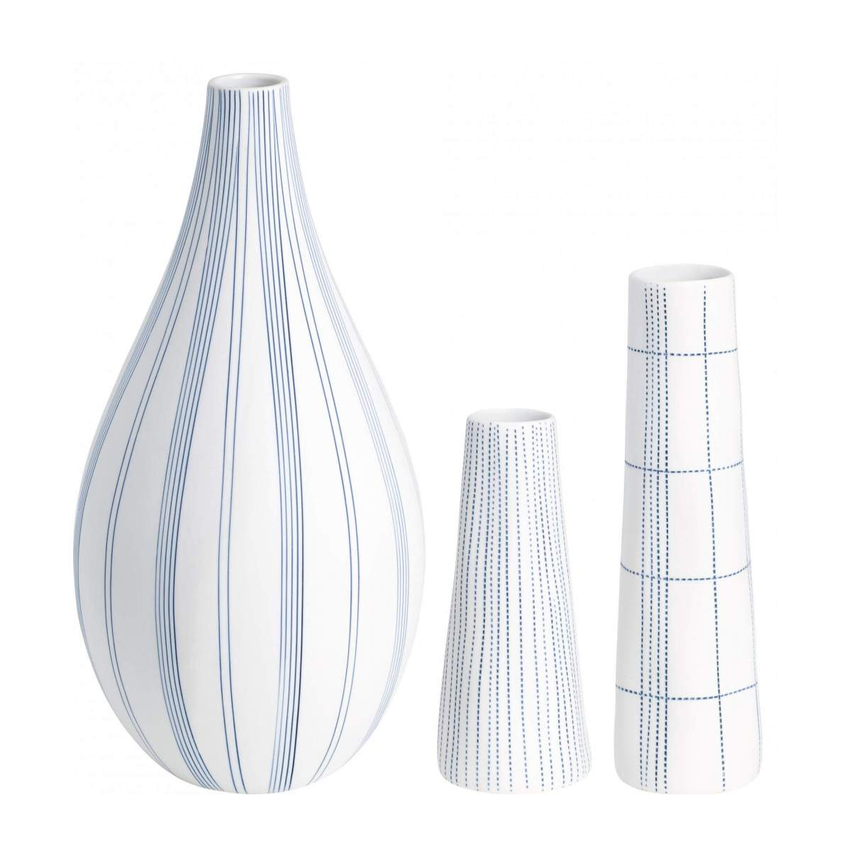 Vase en porcelaine - Points Bleus n°3