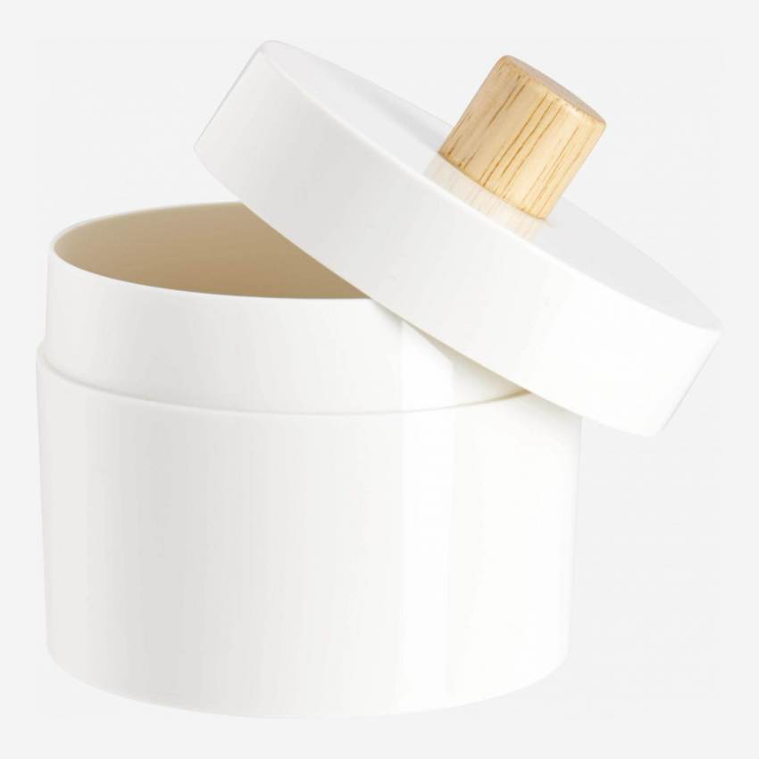 Cotton box with rubber wood