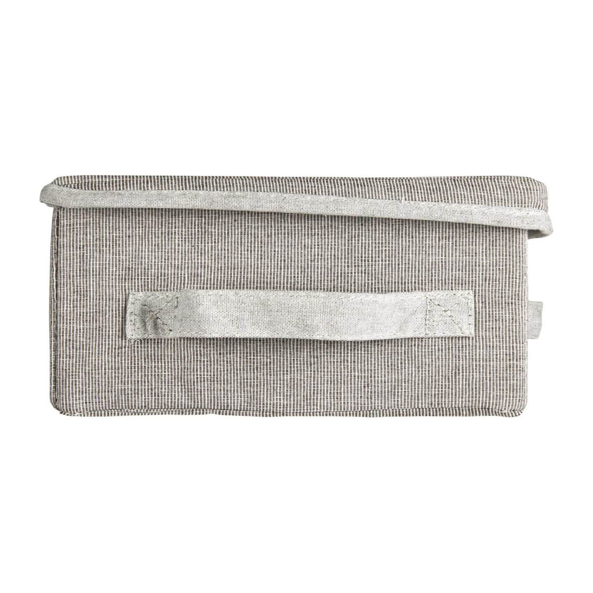 Small Storage basket, grey fabric and bamboo n°5