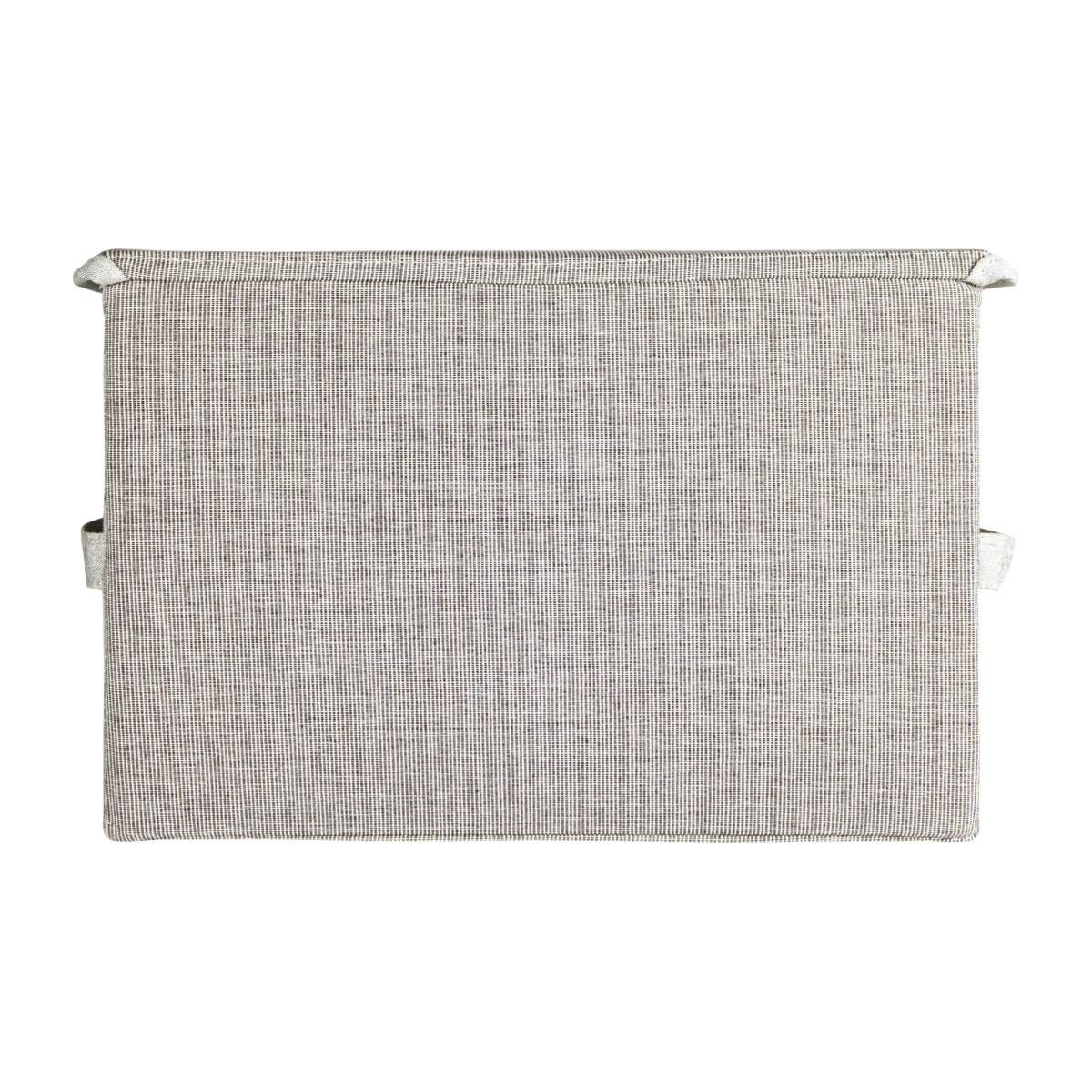 Large Storage basket, grey fabric and bamboo n°4