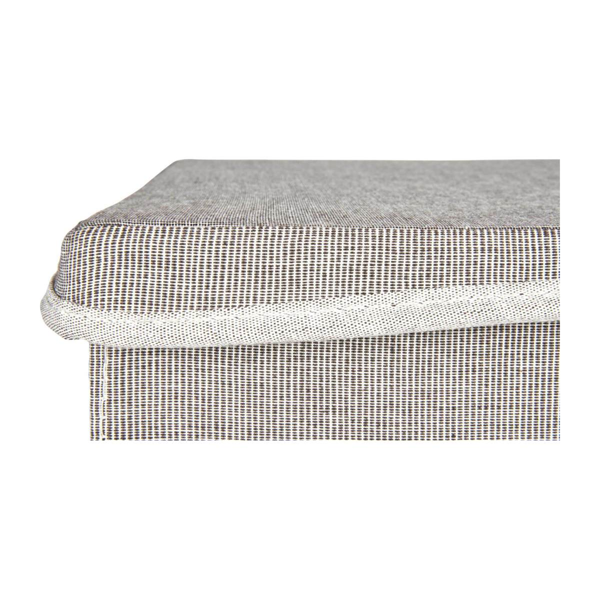 Large Storage basket, grey fabric and bamboo n°8