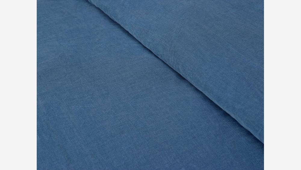 Duvet cover 260x240 made in flax, blue